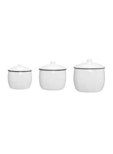 Warm Design Emaye Kaplar Beyaz